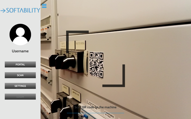 QR code recognition application at Softability