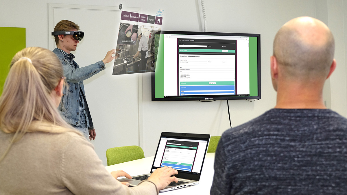 HoloLens application created for Perho was developed closer