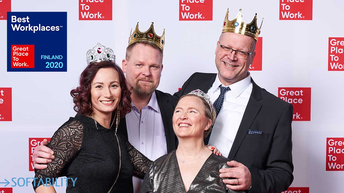 For the third year in a row, Softability has been selected as one of the best workplaces in Finland